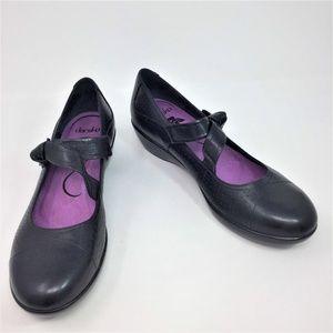 Dansko Black Clogs Leather Mary Jane 40 9.5
